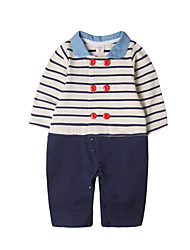 cheap -Baby Boys' Active Sports Solid Colored / Striped Long Sleeve Cotton Overall & Jumpsuit / Cute