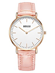 baratos -Mulheres Relógio Casual / Relógio Esportivo / Relógio de Moda Chinês Relógio Casual Couro Legitimo Banda Casual / Fashion Cinza / Rosa / Dois anos