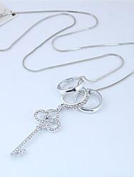 Недорогие -Жен. Ожерелья с подвесками  -  Мода европейский Круглый Серебряный 70cm Ожерелье Назначение Для вечеринок