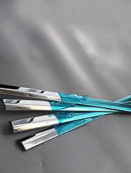 baratos -10 PCS 12 Pças. Prata Adesivos Decorativos para Carro Negócio Guarnição da janela Não Especificado Guarnição da janela