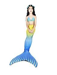 preiswerte -Die kleine Meerjungfrau Bademode / Bikini Halloween / Karneval / Kindertag Fest / Feiertage Halloween Kostüme Gelb Meerjungfrau neu Niedlich