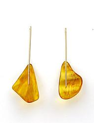 baratos -Mulheres Incompatibilidade Âmbar Chapeado Dourado Brincos em Argola - Vintage / Incompatibilidade Dourado Irregular Brincos Para Presente