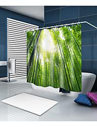 abordables -Rideaux de douche et anneaux Décontracté Rustique Polyester Couleur Pleine Nouveauté Fabrication à la machine Imperméable Salle de Bain