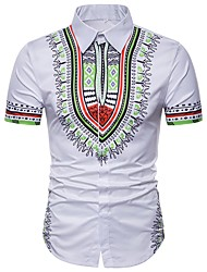 Недорогие -Муж. Рубашка Классический Геометрический принт