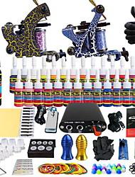 baratos -Máquina de tatuagem Conjunto de Principiante 2 x máquina de tatuagem liga para revestimento e sombreamento Fonte de Alimentação mini