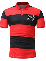 Недорогие -Муж. Спорт Polo Активный Контрастных цветов / С короткими рукавами