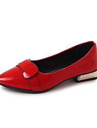 Недорогие -Жен. Обувь Полиуретан Весна Осень Удобная обувь На плокой подошве для на открытом воздухе Белый Черный Желтый Красный