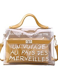baratos -Mulheres Bolsas PVC Conjuntos de saco Ziper Rosa / Bronze / Amarelo
