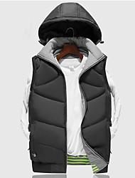 abordables -Hombre Chaleco para senderismo Al aire libre Resistente al Viento Listo para vestir Chalecos Chándal Un Cierre Camping y senderismo