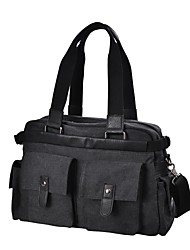 cheap -Men's Bags Canvas Tote Beading Buttons for Casual Office & Career All Seasons Black Gray