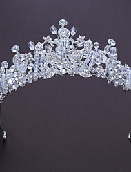 abordables -Alliage Diadèmes with Strass Cristal 1pc Mariage Anniversaire Casque