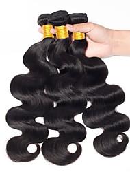 Недорогие -Индийские волосы Естественные кудри Волнистый Ткет человеческих волос 3 предмета раскраска Высокое качество Новое поступление Женский