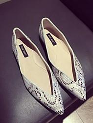 povoljno -Žene Cipele PU Proljeće Jesen Udobne cipele Ravne cipele Ravna potpetica za Kauzalni Obala Pink Badem