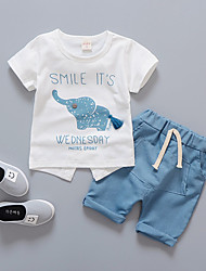 cheap -Toddler Boys' Print Short Sleeves Clothing Set