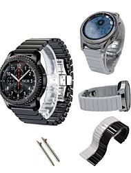 abordables -Bracelet de Montre  pour Gear S3 Frontier Gear S3 Classic Samsung Galaxy Bracelet Sport Céramique Sangle de Poignet