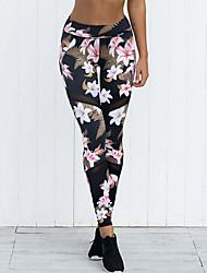 cheap -Women's Basic Sweatpants Pants - Floral