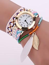 Недорогие -Жен. Кварцевый Часы-браслет Повседневные часы Китайский Повседневные часы Ткань Группа На каждый день Мода Черный Белый Синий Коричневый