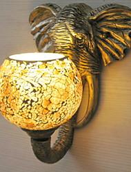 Недорогие -Матовая Античный Настенные светильники Гостиная Металл настенный светильник 220-240Вольт 40W