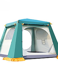 cheap -4 person Family Tent Double Layered Automatic Instant Cabin Camping Tent Outdoor Keep Warm, Dust Proof for Camping / Hiking Other Material 240*240*185 cm