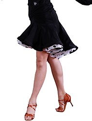 cheap -Latin Dance Tutus & Skirts Women's Training Organza Ice Silk Ruching Natural Skirts