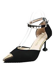 cheap -Women's Shoes Fleece Spring Summer Comfort Sandals Walking Shoes Chunky Heel Open Toe Buckle for Outdoor Black Yellow Green