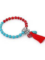 abordables -Femme Pierre volcanique Glands Chaînes & Bracelets - Naturel Bracelet Arc-en-ciel Pour Nouvelle Année