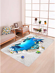 cheap -Doormats / Bath Mats / Area Rugs Modern Flannelette, Rectangle Superior Quality Rug / Non Skid