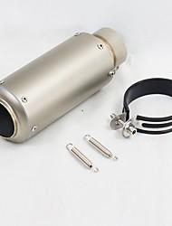 baratos -C18-D18 60mm Aço Inoxidável Silenciadores de Escape For motocicletas Universal