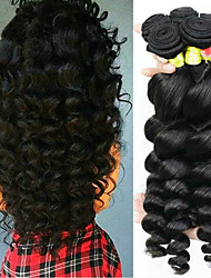 cheap -Malaysian Hair Wavy Virgin Human Hair Natural Color Hair Weaves / Tea Party Favors / Hair Care 6 Bundles Human Hair Weaves Soft / Best Quality / Hot Sale Natural Black Human Hair Extensions Women's