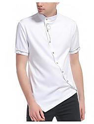 Недорогие -Муж. Рубашка Воротник с уголками на пуговицах (button-down) Однотонный