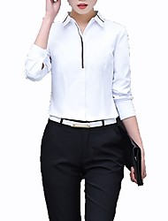 cheap -Women's Business Shirt - Color Block