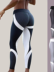 cheap -Women's Yoga Pants - White, Black Sports Tights / Leggings Exercise & Fitness, Gym Fast Dry High Elasticity Fashion