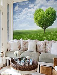 baratos -Mural Tela de pintura Revestimento de paredes - adesivo necessário Árvores / Folhas Art Deco 3D