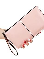 Недорогие -Жен. Мешки PU Бумажники Молнии Розовый / Тёмно-синий