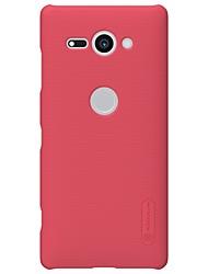 Недорогие -Кейс для Назначение Sony Xperia XZ2 Xperia XZ2 Compact Матовое Кейс на заднюю панель Однотонный Твердый ПК для Xperia XA2 Xperia XA2