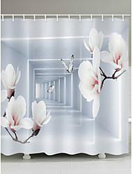 abordables -Rideaux de douche et anneaux Décontracté Moderne Polyester Nouveauté Fabrication à la machine Imperméable Salle de Bain