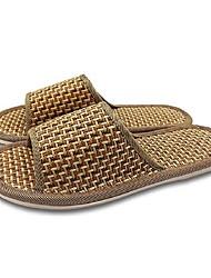 abordables -Unisex Zapatos Fibra de Carbono Primavera / Verano Confort Zapatillas y flip-flops Tacón Plano Puntera abierta Marrón