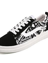 cheap -Women's Shoes Fabric / PU(Polyurethane) Spring / Fall Comfort Sneakers Flat Heel Round Toe Black / White / Orange / Black