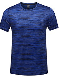 baratos -Homens Camiseta de Trilha Ao ar livre Secagem Rápida Redutor de Suor Respirabilidade Camiseta N/D Acampar e Caminhar Exercicio Exterior