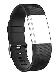 abordables -Ver Banda para Fitbit Charge 2 Fitbit Hebilla Moderna Silicona Correa de Muñeca