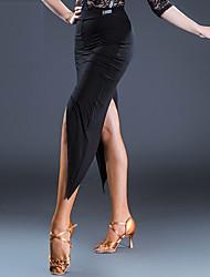 abordables -Danse latine Bas Femme Utilisation Modal Fendue Ruché Taille moyenne Jupes