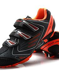 Недорогие -Tiebao® Обувь для горного велосипеда Углеволокно Противозаносный Велоспорт Черный / оранжевый Муж. Обувь для велоспорта / Липучка