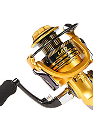 cheap -Fishing Reel Spinning Reel 5.11 Gear Ratio+14 Ball Bearings Hand Orientation Exchangable Sea Fishing