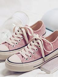 povoljno -Žene Cipele Platno Proljeće Jesen Udobne cipele Sneakers Ravna potpetica Okrugli Toe za Kauzalni Crn Zelen Pink