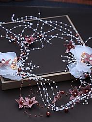 Недорогие -Синтетическое волокно Аксессуары для волос с Искусственный жемчуг / Цветы из сатина 1шт Свадьба / Вечеринка / ужин Заставка