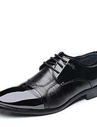 cheap -Men's Formal Shoes PU(Polyurethane) Spring & Summer Classic / British Oxfords Shock-absorbing Black