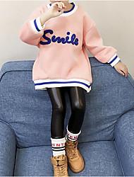 preiswerte -Mädchen T-Shirt Zitate & Sprüche Baumwolle Polyester Winter Herbst Freizeit Rosa