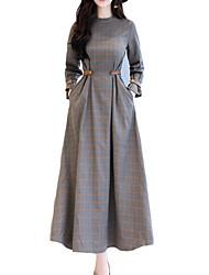 economico -Per donna Moda città Swing Vestito - Con stampe, A quadri Maxi