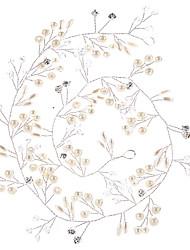 Недорогие -Искусственный жемчуг / Медный провод Инструмент для волос с Искусственный жемчуг / Кристаллы 1шт Свадьба Заставка