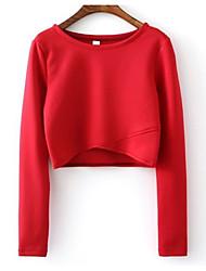 preiswerte -Damen Solide Gestreift camuflaje-Aktiv Street Schick T-shirt
